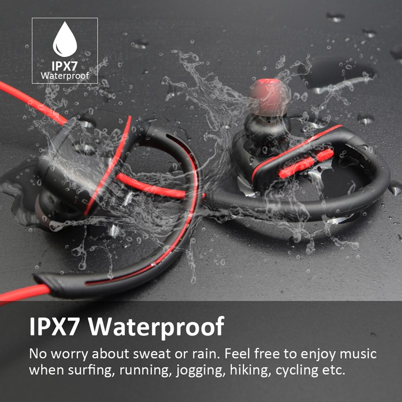 IPX7 Waterproof Wireless Headphons Swimming Sport Bluetooth headset  bluetooth earphone with mic for phone iPhone xiaomi GS07