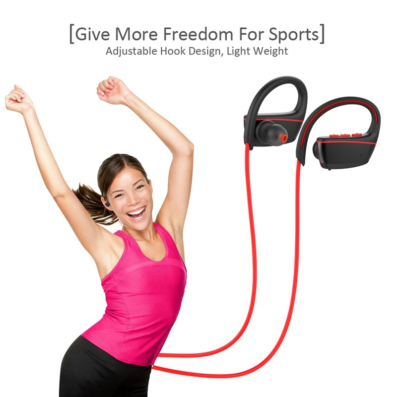 High Quality IPX7 Waterproof Wireless Headphones Swimming Sport Bluetooth headset bluetooth earphone with mic for phone iPhone xiaomi