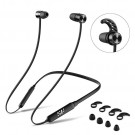 Recommend Digital Products Wireless Earphones, IPX4 Bluetooth Headphones Wireless Neckband Retractable Earbuds Noise Cancelling, Siroflo X13 / X18 Magnetic Stereo Earphones Built-in Mic for Streaming (X18-black)